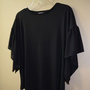 ZARA black top with sleeve detail - sz L